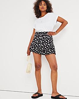 Daisy Print Jersey Flippy Shorts