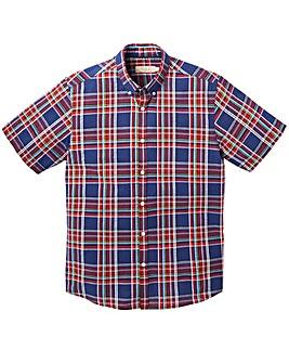 WILLIAMS & BROWN Check Seersucker Shirt