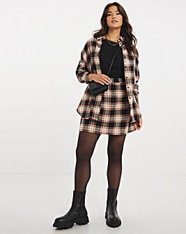 Brushed Check Mini Skirt