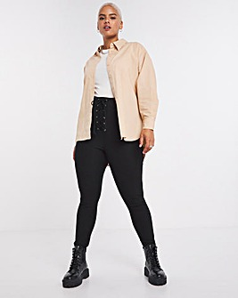 Booty Sculpting Shaper Legging with Lace Up Detail