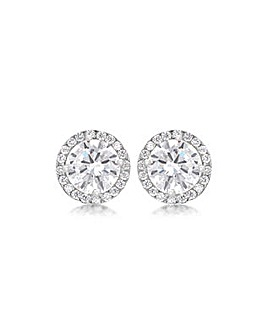 9Ct Gold 9mm Round And Pave Set Studs