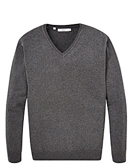 WILLIAMS & BROWN Silk Mix V Neck Jumper
