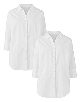 Pack of 2 White Shirts