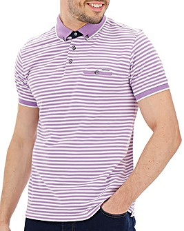 Fine Stripe Polo Shirt Regular