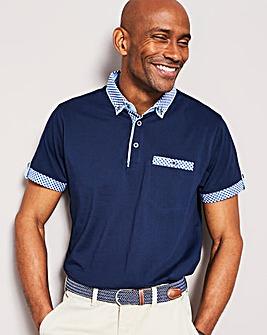 Contrast Trim Polo Shirt R