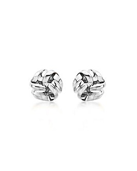 9Ct Gold 9mm Knot Stud Earrings