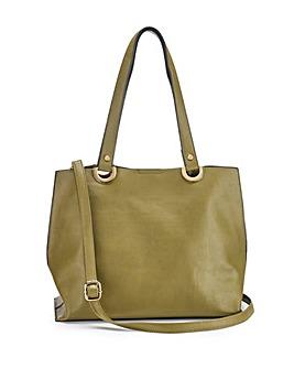 Mia Khaki Shopper Bag