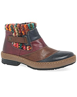 Rieker Rio Women?s Knitted Ankle Boots