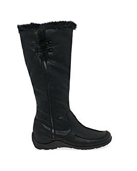 Rieker Astound Womens Fur Trimmed Boots