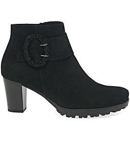 Gabor Winnie Womens Suede Buckle Boots