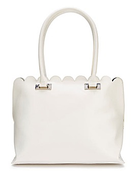 Scalloped Edge Shopper Bag