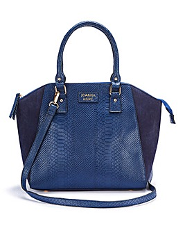 Joanna Hope Navy Snake Effect Tote Bag