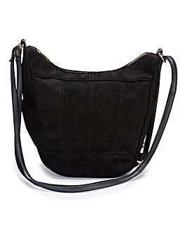 Multiwear Black Hobo And Backpack Bag