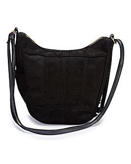 Multiwear Black Hobo And Backpack Bag