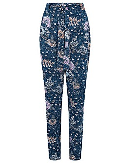 Monsoon Floral Belted Jersey Trousers