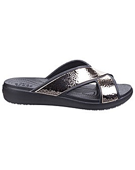 Crocs Sloane Hammered Cross Strap Slider