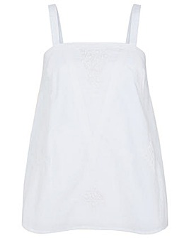 Monsoon Lace Trim Cami in Organic Cotton