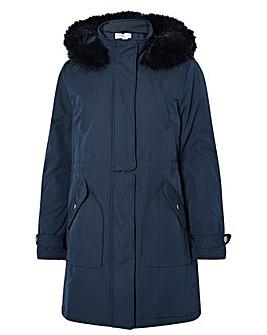 Monsoon Muriel Fluffy Hood Parka Coat