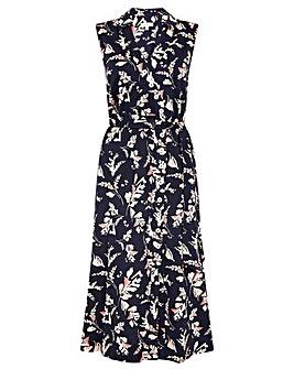 Monsoon Lydia Printed Jersey Wrap Dress