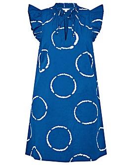 Monsoon Tie-Dye Poplin Dress