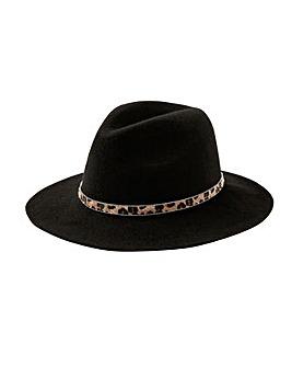 Monsoon Animal Trim Fedora Hat