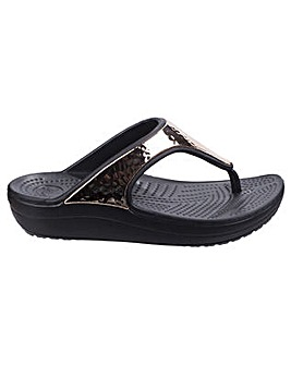 Crocs Sloane Hammered Metallic Flipflop