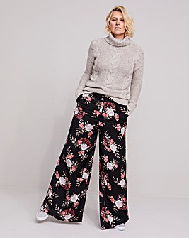 Petite Floral Superwide Trousers