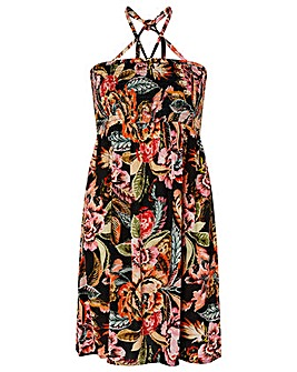Accessorize ORIENTAL PRINT BANDEAU DRESS