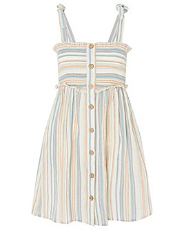Accessorize STRIPE BUTTON BANDEAU DRESS
