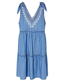 Accessorize BOW TIE DRESS CHAMBRAY