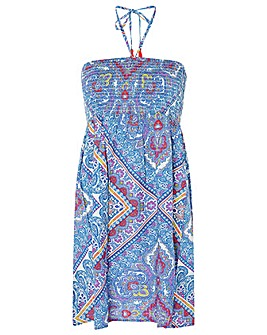 Accessorize KERALA PRINT BANDEAU DRESS