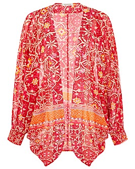 Monsoon BORDER PRINT COCOON COVER UP
