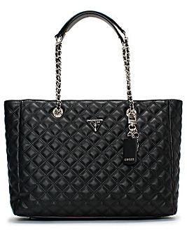 Guess Cessily II Quilted Tote Bag