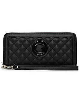 Guess Large Heyden Quilted Zip Around Wallet