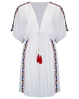Pour Moi Embroidered Crinkle Cover Up
