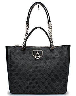 Guess Alisa Society Repeat Logo Tote Bag