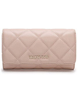 Valentino Bags Ocarina Quilted Flap-Over Wallet