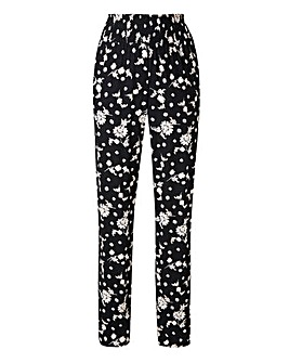 Floral Shirred Waist Tapered Trousers