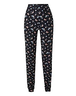 Petite Print Jersey Tapered Trousers