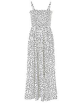 Accessorize SPOTTY MAXI BANDEAU DRESS