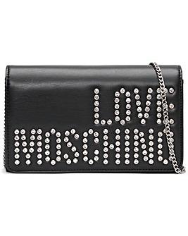 Love Moschino Diamante Logo Cross-Body Bag