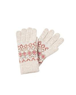 Monsoon Fair Isle Knit Gloves