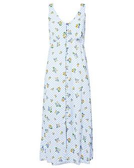 Monsoon Gabriella Gingham Floral Dress