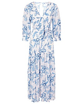 Monsoon Roxanna Floral Tiered Maxi Dress