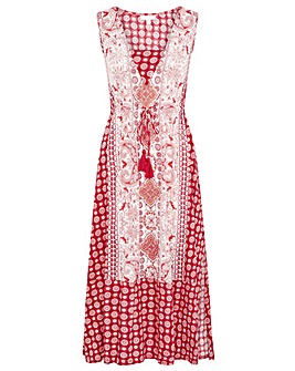 Monsoon Jade Tile Print Dress