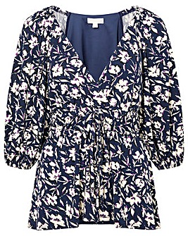 Monsoon Mid Scale Floral Print Top