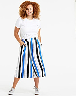 Petite Stripe Stretch Jersey Culottes