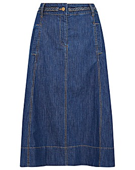 Monsoon A-Line Denim Skirt