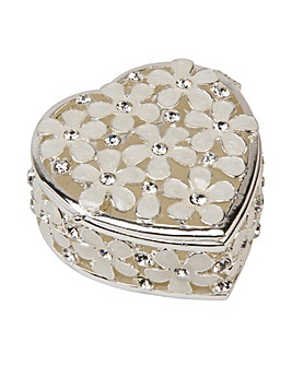 Heart Shape Flowers Trinket Box