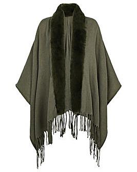 Monsoon Faux Fur Wrap Cover-up